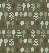 Ağaçları ile sonsuz çizilmiş desen. Resim soyut doğası oyma. Ladin. web sayfalarının arka plan duvar kağıtları, Giysi için turkuaz doku — Stok Vektör