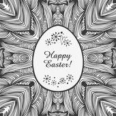 Brillante ornamental de la bandera, vector fondo de pascua. tarjeta original de pascua. marco de huevo para la decoración de diseño y vacaciones — Vector de stock