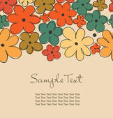 Vintage autumn seamless background with flowers and place for text. Design decorative template for cards, crafts, scrapbooking, prints on cups, bags, notebooks, souvenirs — Stock Vector