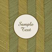 Card on netting hand-drawn texture. Vintage element for design. Circle frame with text. Rosette — 图库矢量图片