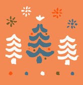 Seamless Christmas pattern. Endless texture with decorative spruces. Abstract holiday background. Xmas print design — Vector de stock