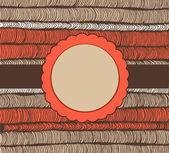 Карта на плетение рисованной текстуры. Винтаж элемент дизайна. Круг рамка с текстом. Розетка — Cтоковый вектор