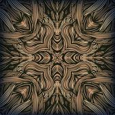Ethnique homogène linéaire modèle avec fleurs et feuilles. fond interminable rangées d'éléments d'ornementation amérindiens. tournesols. main dessinée texture élégant pour les tirages, les vêtements, les métiers, — Vecteur
