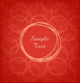 Tarjeta de red textura dibujadas a mano. vintage elemento de diseño. marco de círculo con el texto. roseta — Vector de stock