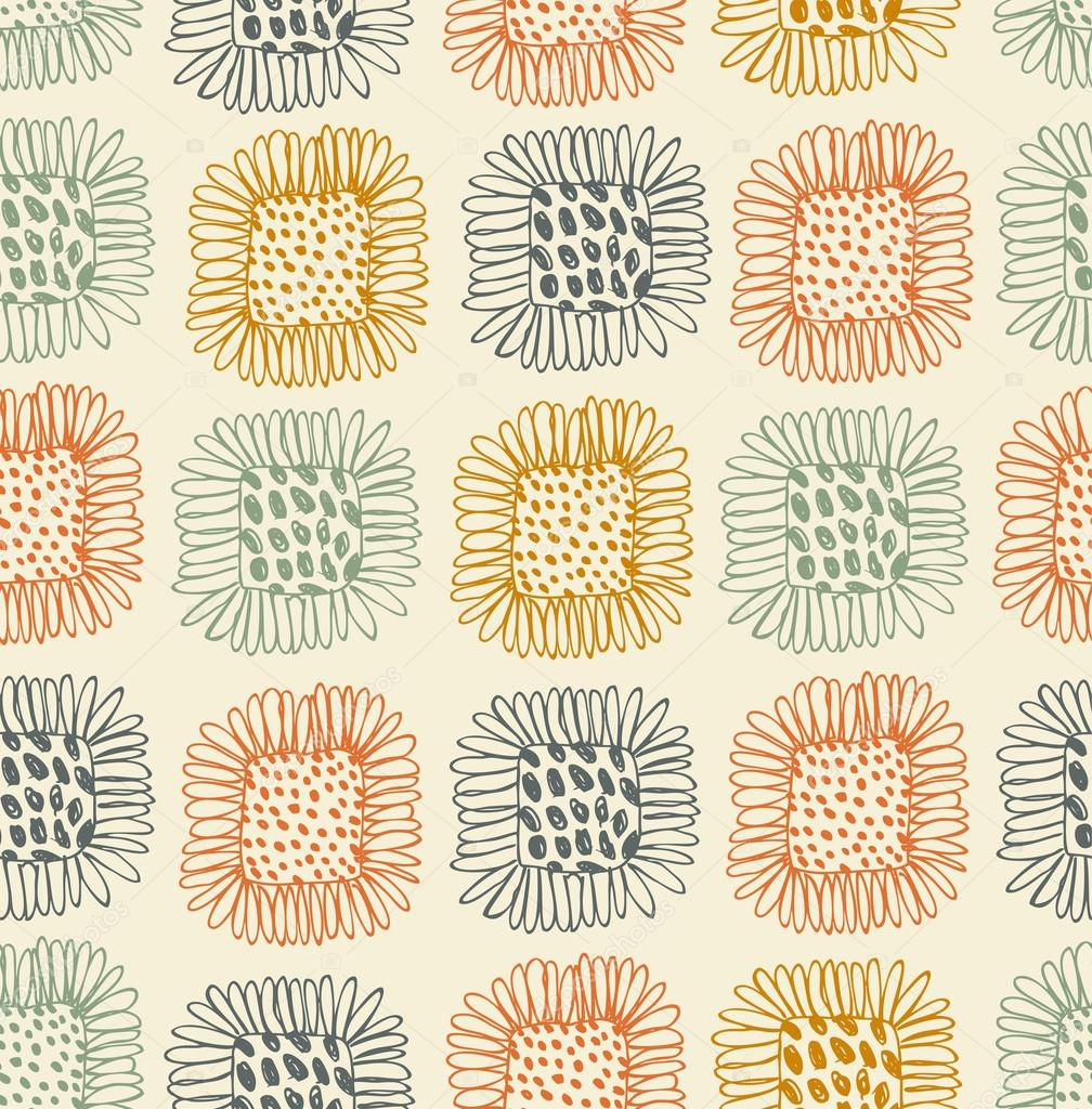 Download - Colorful floral seamless pattern. Contrast fabric texture ...