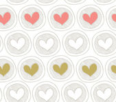 Seamless pattern with hearts. Decorative background — Stock Vector