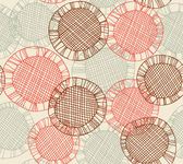 Seamless pattern with hand drawn lace circles. Endless bright decorative background. Vector netting texture. Clip art — Stock Vector