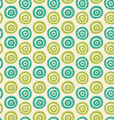 Vector abstract background. Seamless green hand drawn circles pattern. Can be used for wallpaper, pattern fills, web page background, surface textures — Stock Vector