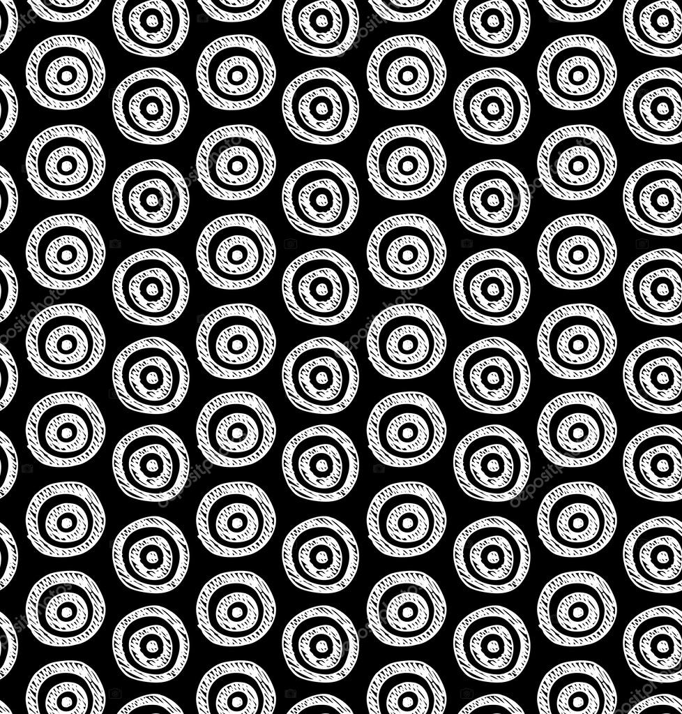 Schwarz Wei? Muster Tapete : Hand Drawn Black and White Patterns