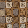 Brown coffee country seamless mosaic pattern — Imagen vectorial