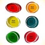 blocs de texte rond multicolore pour les bulles de parole et de pensée — Vecteur #26723803