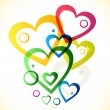 Multicolor hearts — Vector de stock #26723959