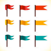 Set of vector flags. Multicolor icons for web pages, games, presentations — Stock Vector