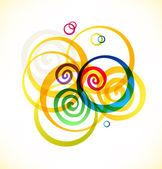 Multicolor rings — Stock Vector