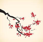 Cherry tree branch — Stock Vector