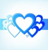 Bande de coeurs bleus — Vecteur