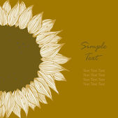 Sunflower text banner. Background for holidays, sewing, arts, crafts, cards, scrapbooks, covers, cake decorating — Stock Vector