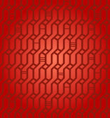 Seamless geometric red pattern. Network background. Wickerwork. Decorative endless texture for design textile, wrapping papers, packages, tiles — Stock Vector