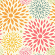Seamless ornamental floral pattern. Decorative cute background with round flowers — Stok Vektör