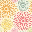 Seamless ornamental floral pattern. Decorative cute background with round flowers — Imagen vectorial