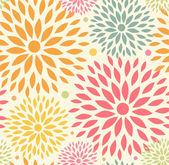Seamless ornamental floral pattern. Decorative cute background with round flowers — Cтоковый вектор