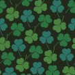 Seamless floral pattern with clover, trefoil. Endless background texture with flowers — Stockvektor