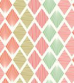 Seamless geometric pattern with rhombus. Decorative light tiles texture — Stock Vector