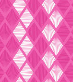 Seamless geometric pattern with rhombus. Decorative pink background — Stock Vector