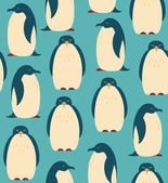 Seamless pattern with penguins. Birds decorative background — Stock Vector