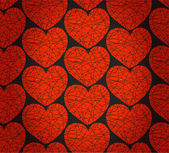 Seamless pattern with red mosaic hearts. Decorative rich texture — Stock Vector