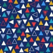 geometric colorful seamless pattern with triangles. abstract background — Stock Vector