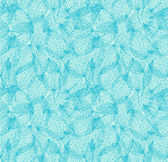 Floral seamless pattern. Turquoise linear background with leaves. Decorative leaves with dots — Stock Vector