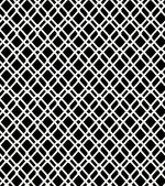 Seamless black and white geometric netting pattern. Grating background. Grate, lattice — Stock Vector