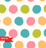 Seamless bright background. Decorative pattern with drawn circles — Stock Vector