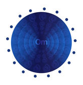 Deep blue mandala. — Stock Vector