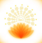 Shiny image with lotus. — Stock Vector