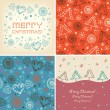 Stock Vector: Set of Christmas holiday banners.
