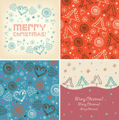 Set of Christmas holiday banners. — Stock Vector