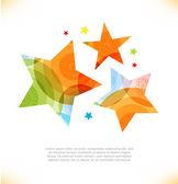 Vector multicolor stars. — Stock Vector