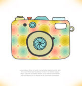 Colored illustration of cartoon camera — Stock Vector