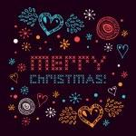Christmas netting banner. — Stock Vector