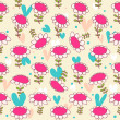 Floral seamless baby pattern.  — Stock Vector