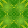 Vector ornamental green square lace pattern — Image vectorielle