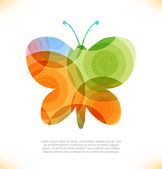 Vector fantasy butterfly. — Vettoriale Stock