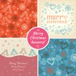 Set of Christmas holiday banners — Stock Vector