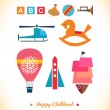 Happy childhood collection — Image vectorielle