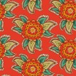 Floral decorative colorful seamless texture — Векторная иллюстрация