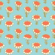 Flourish seamless drawn pattern — Stock Vector