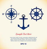 Vector set of maritime symbols — Stock Vector