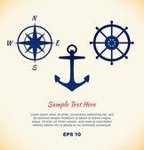Vector set of maritime symbols — Vettoriale Stock